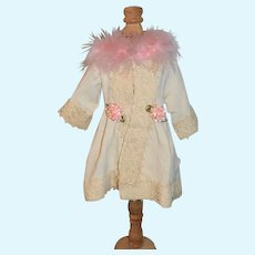 Vintage Hand Made Fancy Dress Coat For your Doll