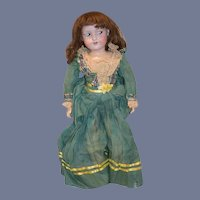 """Antique Doll Bisque Armand Marseille 390 Sweet Large Girl 24"""" tall Dressed"""