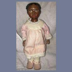 Wonderful Black Artist Doll Sarah Sorci Porcelain Character Little Girl