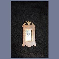 Old Wood Doll Miniature Federal Mirror Dollhouse