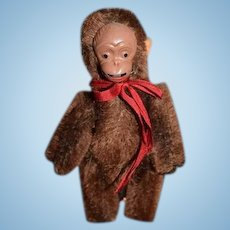 Old Mechanical Miniature Schuco Monkey Miniature For Doll Sticks his Tongue out Naughty!