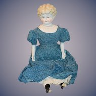 "Old Large China Head Doll ""HELEN"" Pat. Appd For German Molded Shoulder Plate"