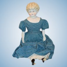 """Old Large China Head Doll """"HELEN"""" Pat. Appd For German Molded Shoulder Plate"""