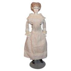 Wonderful Old Doll Dress Lace Collar Cuffs and Trim For China Head Fashion Doll