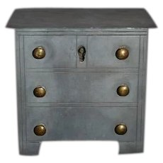 Early Antique Pewter Bank Metal Dresser Dollhouse