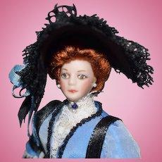 Porcelain Artist Doll by Beverly Walters dress by Robert H. Archer Jr.