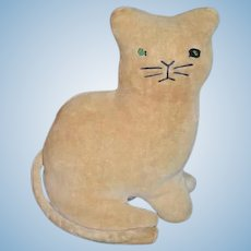 Folk Art Plush Cat Toy