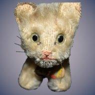 "Steiff Miniature ""Tabby"" the Cat Plush Mohair Collectible"