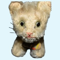 "Steiff Miniature ""Tabby"" the Cat Plush Mohair Collectible"