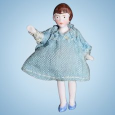 Vintage German All Girl Bisque Doll 2""