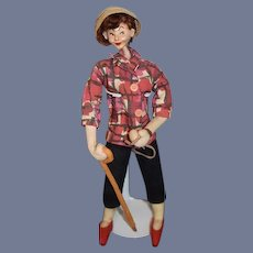 Roldan Klumpe Doll walking Dog (Dog is missing)