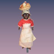 Old Black Doll Composition & Cloth Doll Original Costume Island Girl