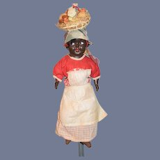 Old Black Doll Composition & Cloth Doll Original Costume Island Girl