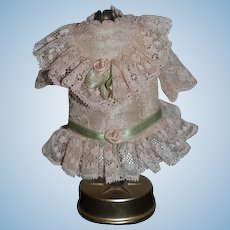 Sweet Vintage Lace Dress For Mignonette Small Doll Drop Waist