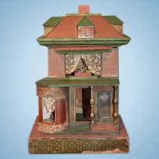 Old Bliss Dollhouse Miniature Wood Bliss Fancy Porch