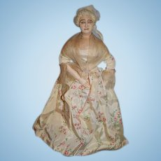 Old Wonderful Cloth Doll Unusual Sculpted & Painted Features Helen Bullard Rena Dolls