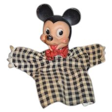 Vintage Mickey Mouse Puppet Walt Disney Doll
