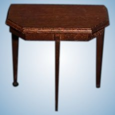 Old Wood Miniature Side Table Dollhouse