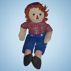 Old Doll Cloth Raggedy Andy Rag Doll Adorable