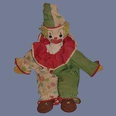 Old Doll Cloth Doll Rag Doll Clown Jester Unusual Original Costume