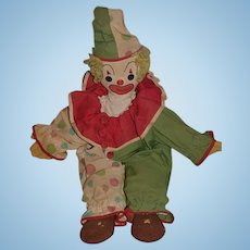 Old Doll Cloth Doll Rag Doll Clown Jester Unusual Original Costume