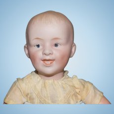 Antique Doll Bisque Heubach Baby Doll Cabinet Size Laughing Character
