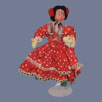 Vintage Doll Cloth Doll Klumpe Spanish Dancer