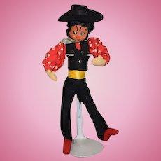 Vintage Cloth Klumpe Doll Character Spanish Dancer