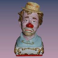 Ezra Brooks Porcelain Clown Liquor Bottle