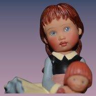 Artist Doll figurine Doll holding Doll Helen Kish