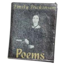 Miniature Doll Book Emily Dickinson Poems Dollhouse