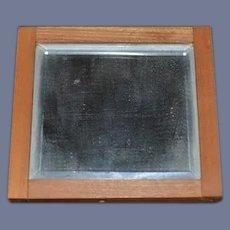 Miniature Square Mirror Wood Dollhouse