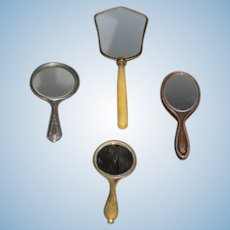 Miniature Hand Mirrors set of 4 All Ornate for Doll