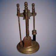 Miniature Fireplace Tools Dollhouse