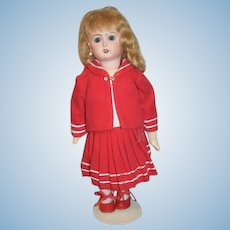 """Wonderful Doll Artist Made Sailor Dress and Jacket & Matching Shoes For Bisque 11"""" Doll"""