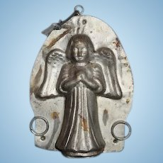 Old Angel Tin Chocolate Mold Wonderful Double Sided