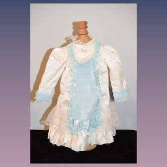 Sweet Doll Dress For French Doll Lace Bows Chiffon