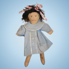 Old Sweet Cloth Doll Rag Doll Sewn Features