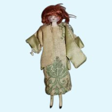 Old Miniature Wood Carved Doll Dollhouse Charming