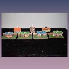 Wonderful Old Doll Miniature Dollhouse Village Litho & Wood