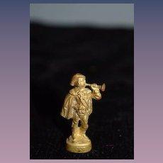 Old Doll Miniature Dollhouse Figurine Statue Metal Wonderful Statue