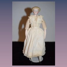 Old Parian Bisque Doll China Head Sweet Face Center Part