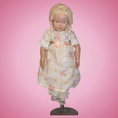 Antique Doll Wood Schoenhut W/ Mohair Wig Original Shoes