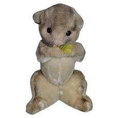 adbe1d30b16 Vintage Doll Toy Rabbit Stuffed Animal Holding Flowers Clare Creations Inc.  New York