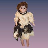 "Antique Doll Bisque D.R.G.M. AM Doll 21"" Dressed"