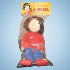Vintage Beverly Cleary's Ramona Doll In Original Package 1985 Sweet Cloth Doll