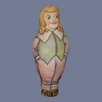 Old Cloth Doll Advertising Quaker Crackels 1930's Doll