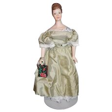 Wonderful Artist Doll Miniature Dollhouse Lady Fancy Signed UFDC Fawn Zeller Janette