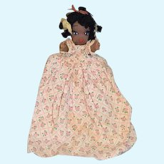 Vintage Black Cloth Doll Half Doll Jointed Arms