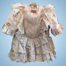 Sweet Vintage Lace Dress Hand Made For French Doll